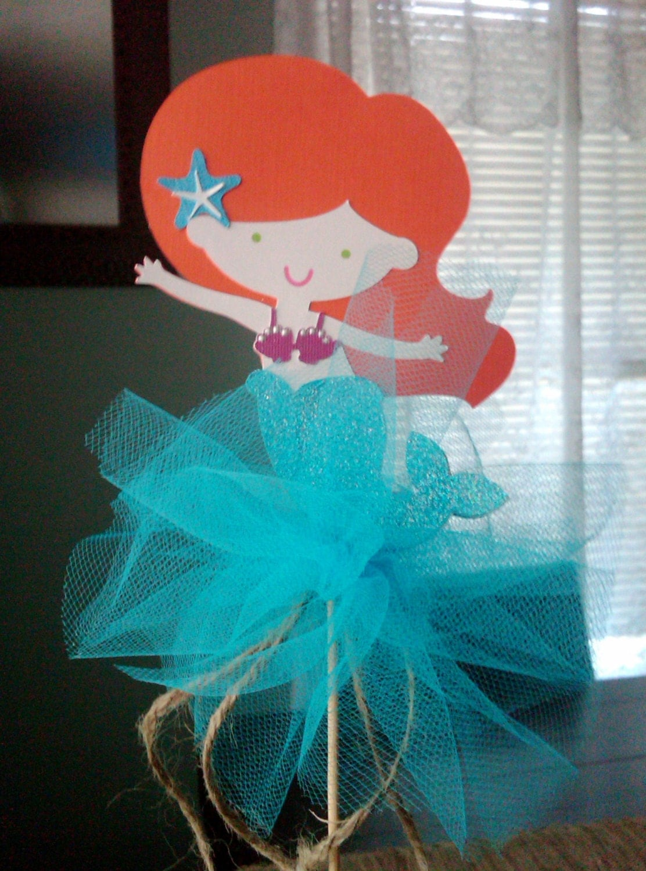 adorable princess mermaid centerpiece topper
