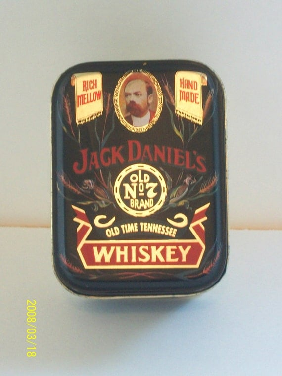Vintage Jack Daniels Keepsake Tin Box 1960 S