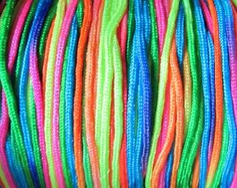 Neon Rainbow - Nylon Cord - 1.5 mm - 9 feet - 3 Yards