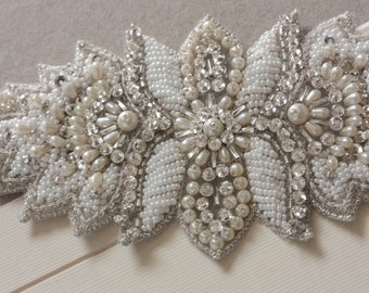 Wedding Statement Bracelet - Pearl Beads (Made to Order)