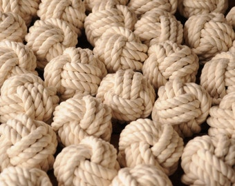 Nautical Event Knots - Small Monkey Fist Knots - Nautical Decor - Nautical Wedding Favors - (this is for 40 knots)