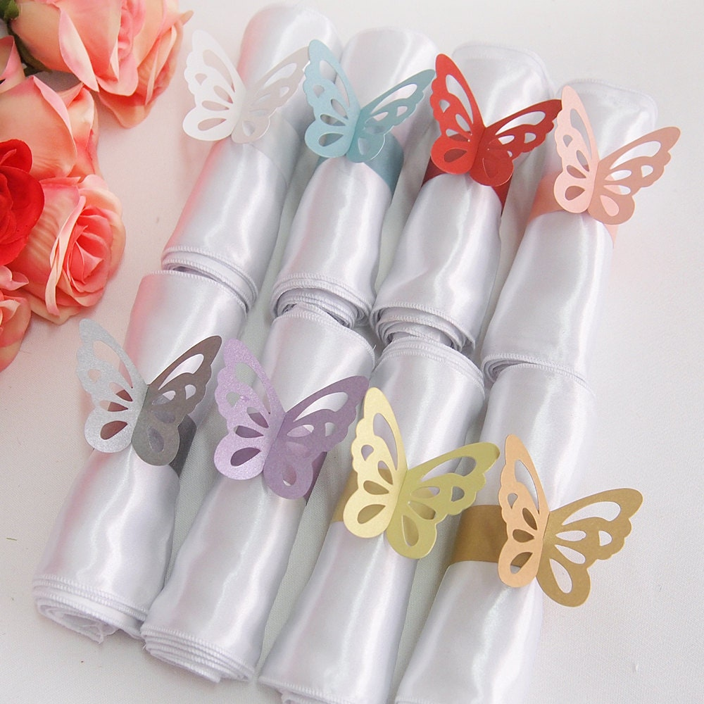butterfly paper napkin rings. Black Bedroom Furniture Sets. Home Design Ideas
