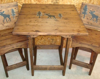 rustic bar stool etsy