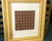 Framed Antique French Library Wallpaper in Tiles