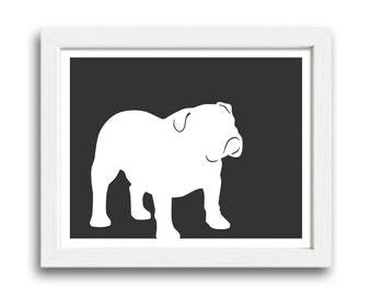 Bulldog Print (version 1) - Bulldog Silhouette