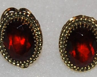 signed whiting and davis earrings