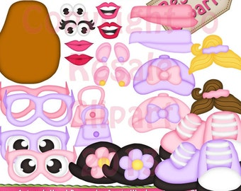 DIGITAL SCRAPBOOKING CLIPART - Mrs Potato Head