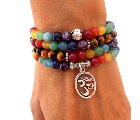 Chakra 108 Mala Wrap Bracelet Or Necklace 7 By