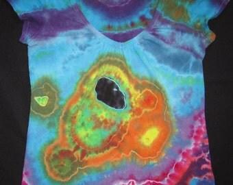 Ladies Tee Custom Geode Tie Dye Similar to Example. Spectacular Art.