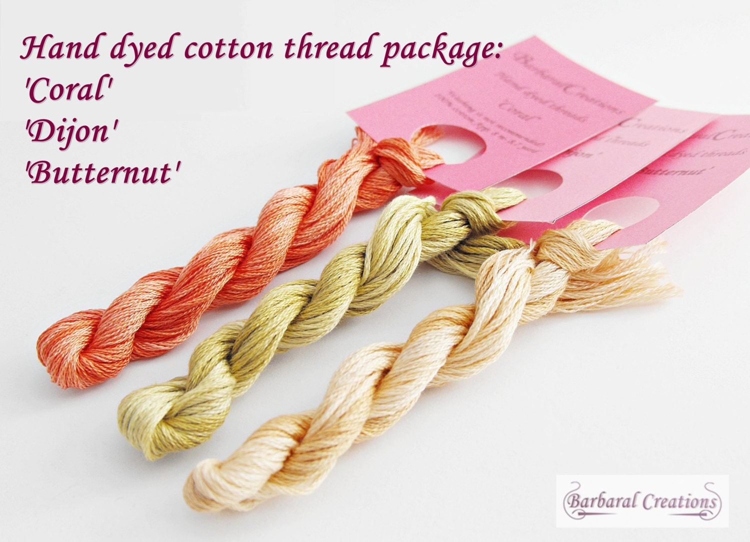 Hand Dyed Cotton Thread Package For Cross Stitching From