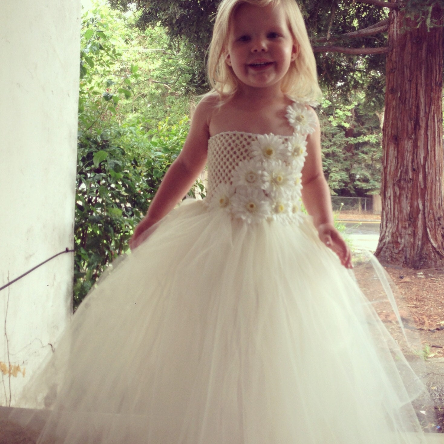 Tutu Flower Girl Dresses Cheap High Cut Wedding Dresses