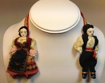 Vintage 1930's Souvenir Dolls
