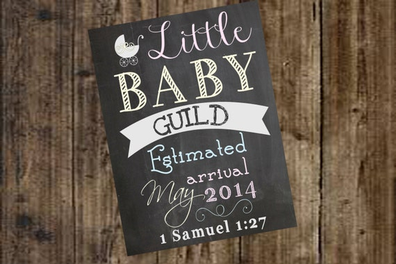 Pregnancy Announcement Chalkboard Poster/Sign Printable Photo