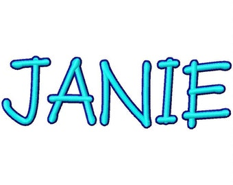 2 Color Janie Machine Embroidery Fonts  1725