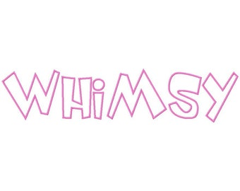 Whimsy Machine Applique Embroidery Fonts  1770