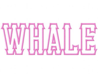 Whale Machine Applique Embroidery Fonts  1869