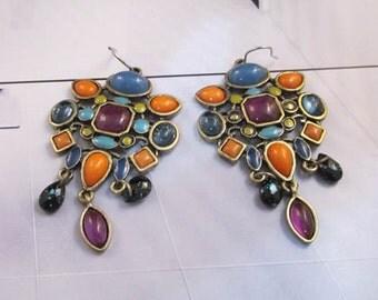 New Urban Signature Diamiente Tribalis Multi Bead Earrings