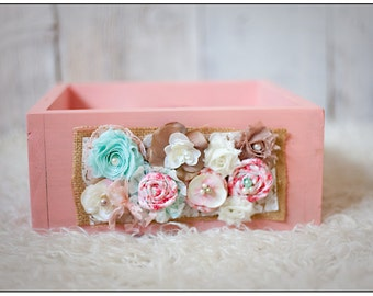 Wooden Box Photography Prop and Matching Headband