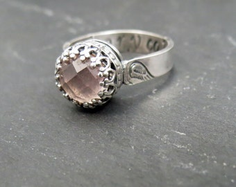 Custom Hair or Ash Ring with Filigree EXAMPLE ONLY