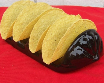 Black Ceramic Taco Holder