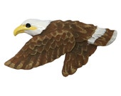 Bald Eagle 1 and 9/16  inch ( 40 mm ) Novelty Sewing Buttons