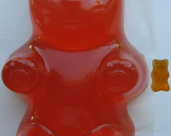 "Edible Giant Gummy Bear.  ORANGE.  Made ONLY from the authentic Haribo product.  ""Haribomb"""