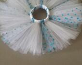 Blue & White Polkadot Tutu