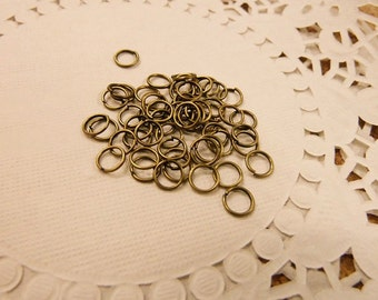 100pcs 6mm Open Jump Ring Antique Bronze O Rings