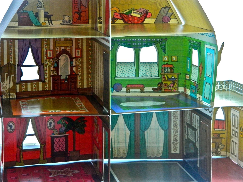Rare Victorian Pop Up Dollhouse Book