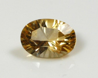 Oval Concave Cut Citrine - 5mm x 7mm