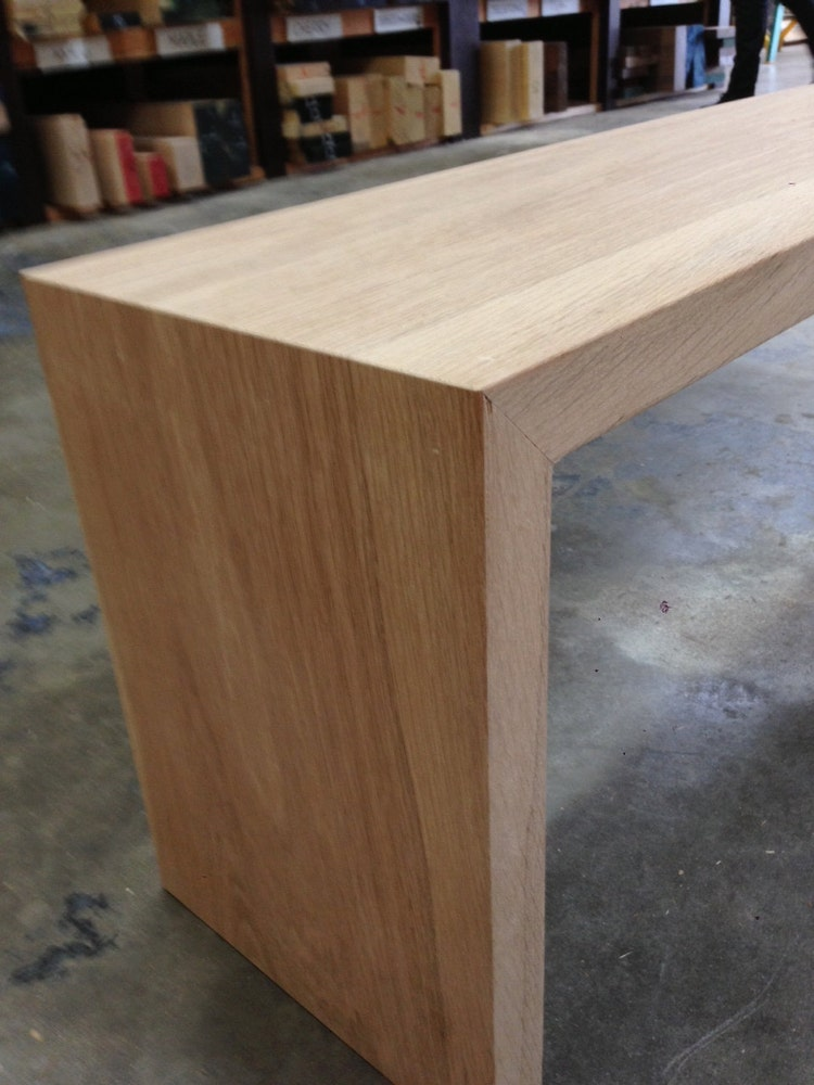 The Sharpe White Oak Bench By Houseofhardwood On Etsy