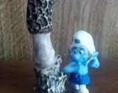 morel mushroom, deer antler, hand carved antler, hand carved mushroom, mushroom decor, home decor, antler carving,