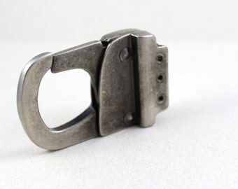 68mm Large Heavy-duty Oxidized Silver Metal Clasp (1230)
