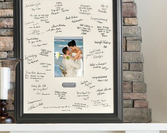Wedding Mat and Frame for Signatures / Signature Mat / Wedding Frame / Anniversary Frame / Birthday Frame / Signature Frame / Mat