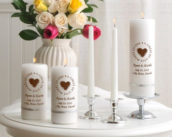 Second Marriage Candle Set for Lighting Ceremony