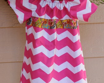 Baby Doll Style Dress w/Ribbon Embellishment