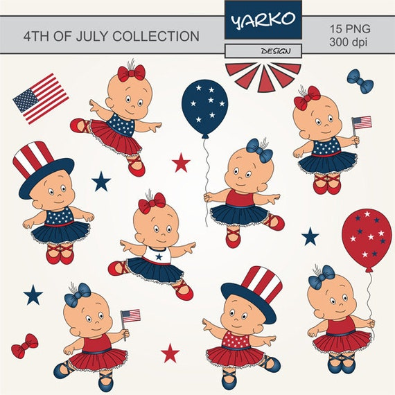May The Fourth Be With You Cartoon: 4th Of July Clip Art Independence Day Clip Art Cute Baby