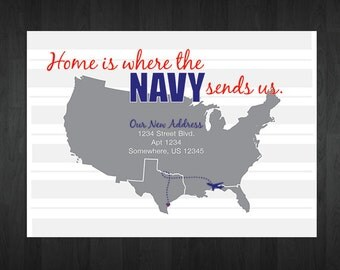 Customized Printable Military Moving Announcement