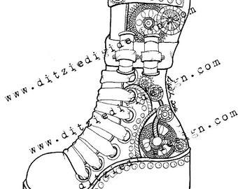 Steampunk Boot Li Wilmore - Digital Download