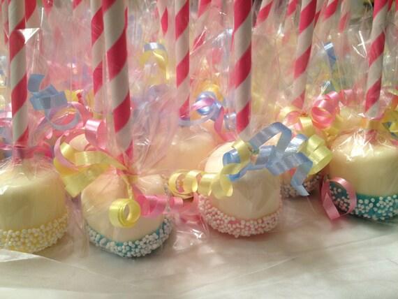 Double Dipped Marshmallow Pops (Vanilla) - 1 dozen - Baby Shower ...