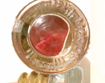 Red Fuse Bottle Stopper - upcycled vintage glass fuse
