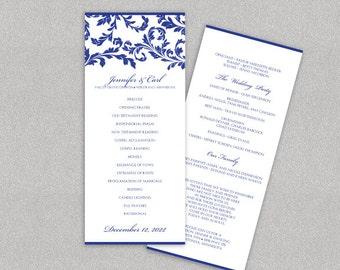 Elegant Wedding Program Template Instant By Karmakweddings