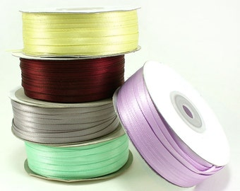 "Satin Ribbons 1/8"" (spool of 100 yards)  - ** FREE SHIPPING **"