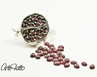 sterling silver ring pomegranate