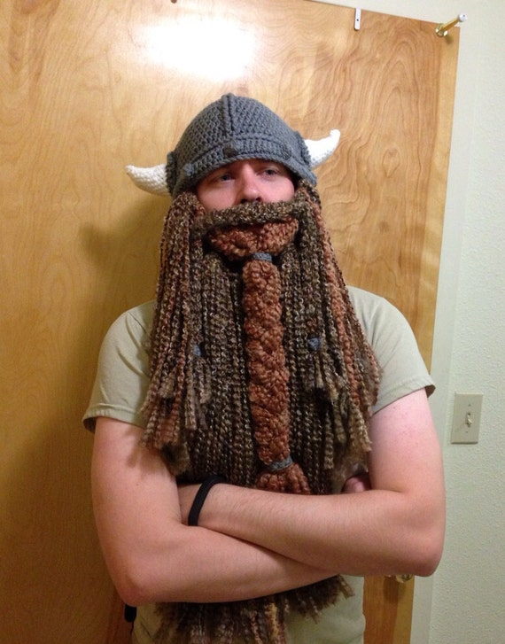 Free Knitting Patterns For Baby Toys : Knit Viking Hat With Beard ShowBiz
