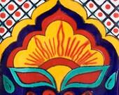 Mexican Tile  Handmade Talavera TILE Mosaic Ceramic Tiles (98) - 9 PIECES