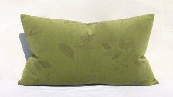 Olive Green Velvet Pillow Cover Super Light and by SophiesBazaar
