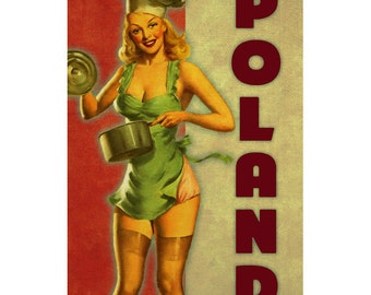 POLAND 2P- Handmade Passport / Documents Leather Neck Pouch - Travel Art