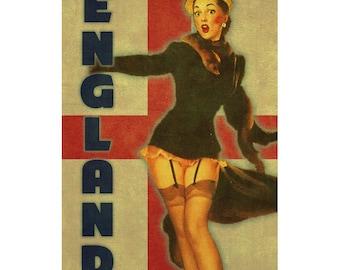 ENGLAND 1PS- Handmade Leather Journal / Sketchbook - Travel Art