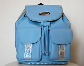 SALE>> Baby Blue Holographic Club Kid Backpack